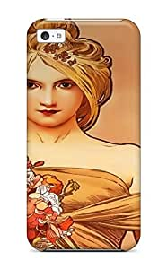 For Iphone Case, High Quality Alphonse Mucha Woman Artistic Women People Women For Iphone 5c Cover Cases