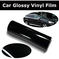 "KaaHego 12""x12"" Black Glossy Vinyl Car Wrap Sheet Roll Film Sticker Decal"