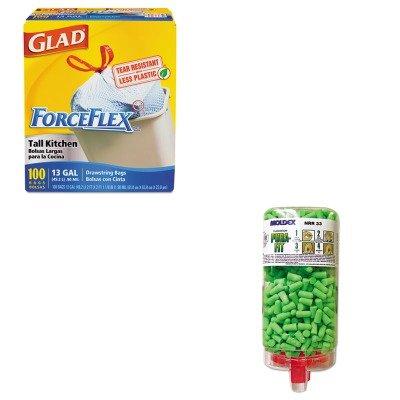 KITCOX70427MLX6845 - Value Kit - Moldex-metric, Inc. Pura-Fit PlugStation Earplug Dispenser (MLX6845) and Glad ForceFlex Tall-Kitchen Drawstring Bags (COX70427)