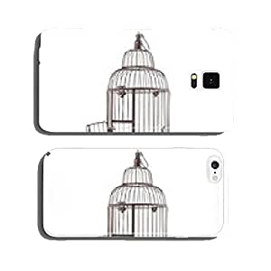 Open, old bird cage cell phone cover case iPhone6 Plus