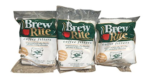 Brew Rite Rockline Wrap Around Percolator Coffee Filters (Pack of 3) by Brew Rite