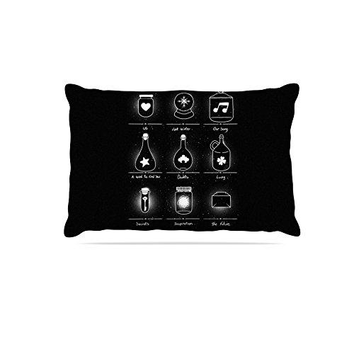 Kess InHouse Tobe Fonseca Collector  Fleece Dog Bed, 50 by 60 , Black Illustration