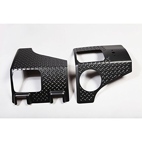 Rugged Ridge 11651.01 Black Diamond Plate Rear Tall Corner - Pair Jeep Wrangler Diamond Plate