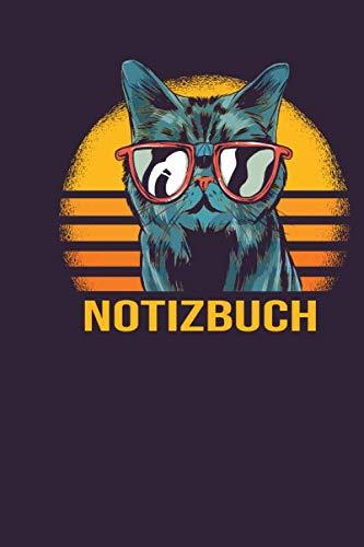 Notizbuch: Notizbuch mit Kalender 2020 und Inhaltsverzeichnis - Journal gepunktet - 120 Punktraster Seiten - Blanko Heft - Dot Grid Notebook - Bullet ... - Katze mit Sonnenbrille (German Edition) (Fives Sonnenbrille)