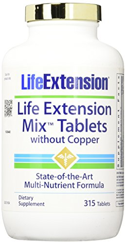 Life Extension Mix without Copper Tablets, 315 Count