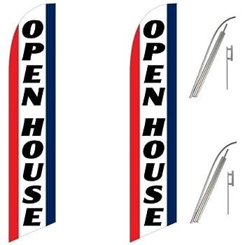 Amazon Com Three 3 Pack Swooper Flags Amp Pole Kits Open
