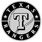Texas Rangers Chrome Auto Emblem Decal Baseball
