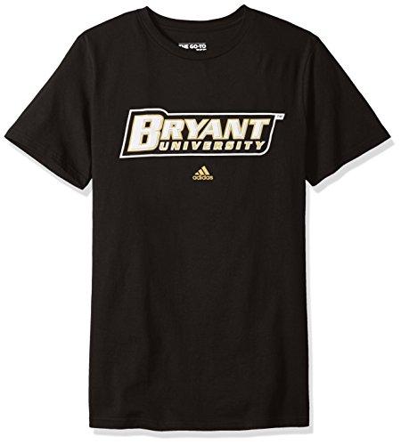 Addidas NCAA Men's Bryant University Bulldogs Primary Logo Short Sleeve Tee - Medium