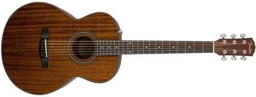 Fender fa-125s guitarra acústica Pack – todos los madera de caoba ...