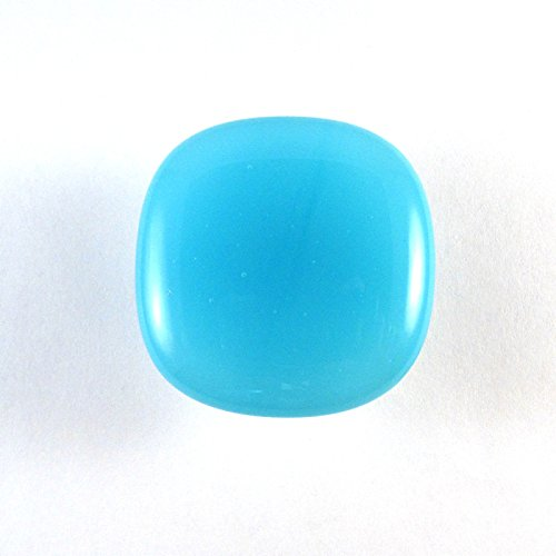 (Sky Blue Glass Cabinet Knob - Colormax Collection (118 colors) Rounded Square Blue Glass Knob)