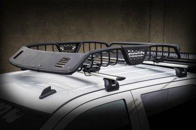 Go Rhino SR20 Series Textured Light Ready Roof Rack With Black Fairing