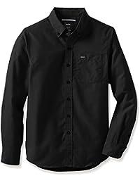 RVCA Boys Big Boys Thatll DO Oxford Long Sleeve Woven Shirt