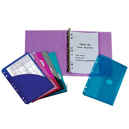 C-Line Mini Binder Starter Kit, Includes Binder, Index Dividers, Filler Paper and Binder Pockets, Colors May Vary, 1 Each (30100) ()