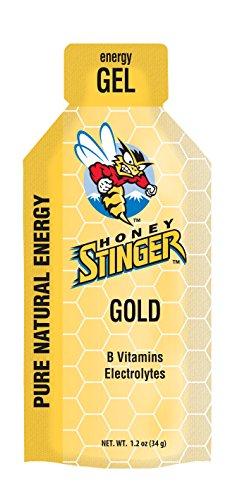 Honey Stinger Energy Gel 8 Pack - Plus Free ZYM Electrolyte Trial (Classic Gold)