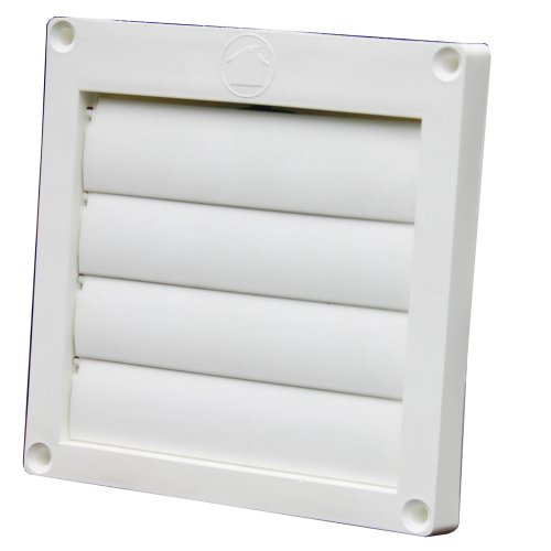 Price comparison product image Speedi-Products EX-HLFW 04 4-Inch Diameter Louvered Plastic Flush Hood,  White No Tailpipe