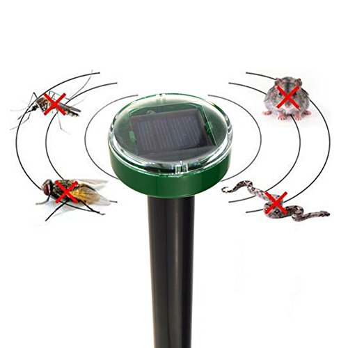 Ultrasonic insect Solar Power Ultrasonic Electronic Anti Mosquito Rat Mice Pest Bug Repeller Kill electronic insect repellent (Rat Zapper Battery Pack)