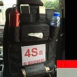 ECVISION Headrest Auto Backseat Hanging Organizer Car Storage Organizer Multi-Pocket Travel Storage Bag Car Back Seat Detachable Pocket Protectors(Black/Tissue Box)
