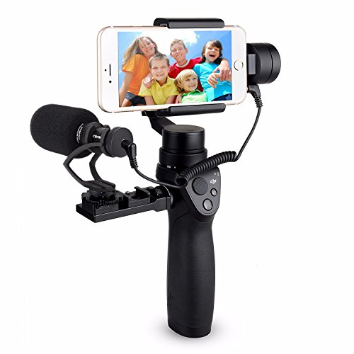 EACHSHOT COMICA CVM-VM10-II Kit Cardioid Directional Condenser Video Microphone Mic With Universal Mount for DJI OSMO Mobile Plus [Note: Not for OSMO2] by EACHSHOT