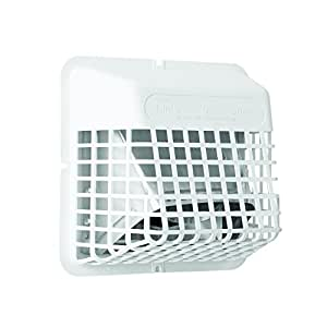 """Deflecto Universal Bird Guard, Fits 3"""" to 4"""" Vents, White (UBGWL)"""