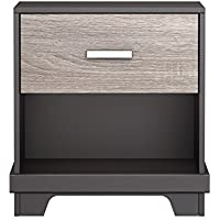 Homestar Albany Nightstand in Java Brown/Sonoma Finish