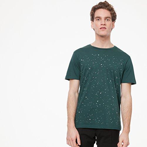 ThokkThokk Nightsky T-Shirt deep teal aus 100% Biobaumwolle hergestellt // GOTS und Fairtrade zertifiziert