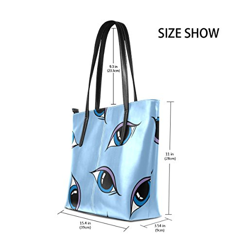 Shoulder Purses Leather Top Totes Handle Eyes TIZORAX Women's Bags Fashion Handbag PU t4f8Pg