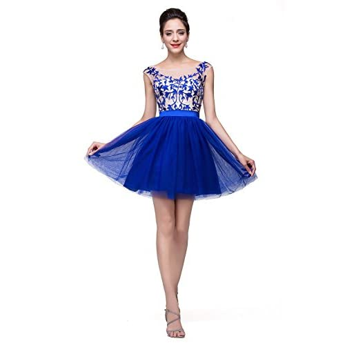 1ee4923c3cf Babyonline A-line Prom Dresses for Juniors 2015 Short Lace Tulle Homecoming  Gown well-