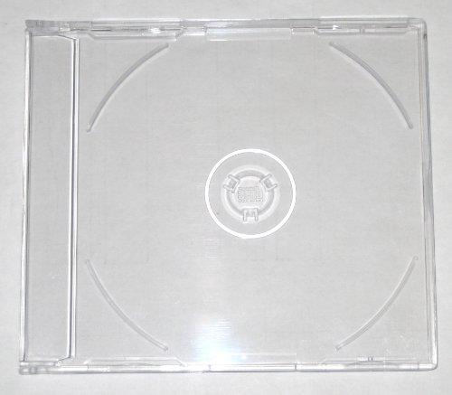 7mm MAXI SLIM CD JEWEL J CARD CASE W/ SUPER CLEAR TRAY, 7.2MM, PSC17, 200 PIECES/CASE (Slim Case Jewel Super)
