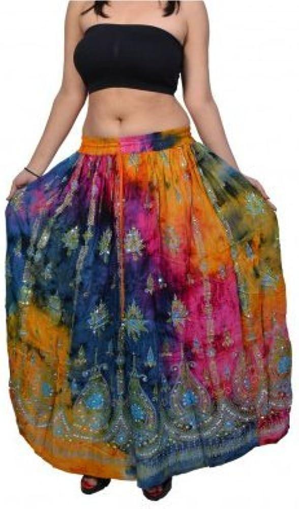 Pack de 2 o 5 – colorido mujer india boho hippie gypsy largo falda ...