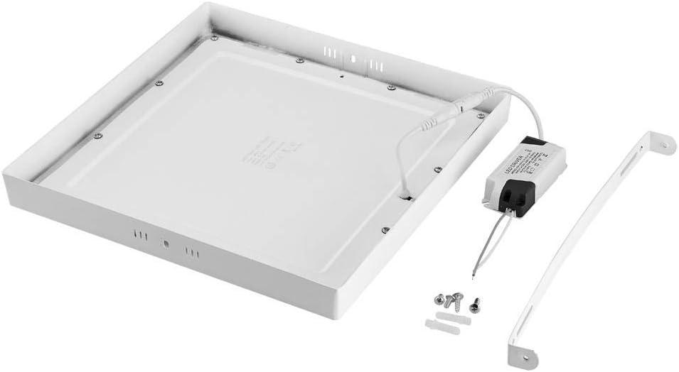 Flur FreedomT LED Deckenleuchte 19.5 x 19.5cm Wohnzimmer 12 Watt 960 Lumen 6000K Kaltweiss LED Deckenlampe IP44 Wasserdicht LED Aufbauleuchte f/ür Badezimmer Balkon Energieklasse A+ B/üro