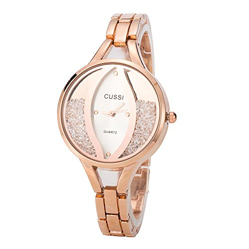 Ladies Angel Eye Bracelet Dress Crystal Wrist Watch for Women – Female Gold, Rose Gold, Silver