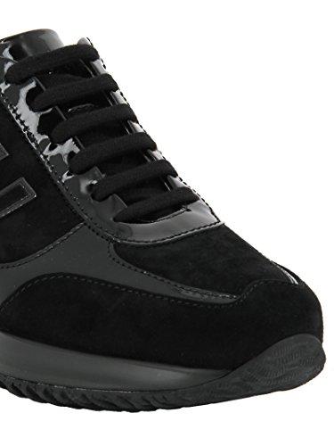 Hogan Sneakers Donna HXW00N02582IU39997 Camoscio Nero