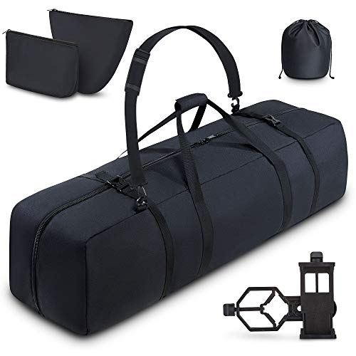 BagMate Multipurpose Telescope Bag, 39x12.3x12.3 inch - Shock-Absorbent Telescope Carrying Case with Adjustable Shoulder Strap and Extra Storage - Water Repellent