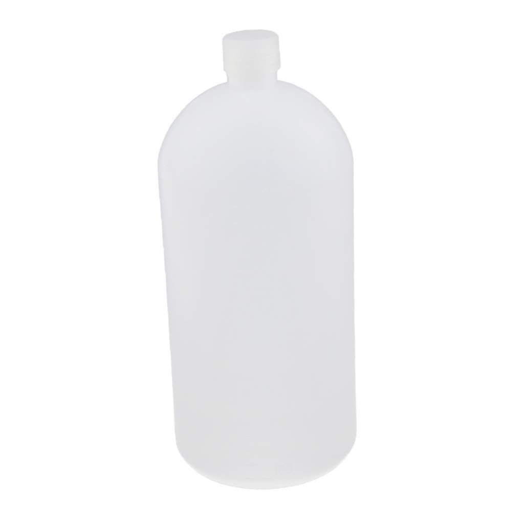 MagiDeal 2L 2000ml Plastic Lab Reagent Bottle Narrow Mouth Sample Sealing Bottles non-brand