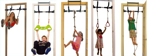 Kids Deluxe With Indoor Swing Plastic Rings Trapeze Bar Climbing Ladder And Swinging Rope
