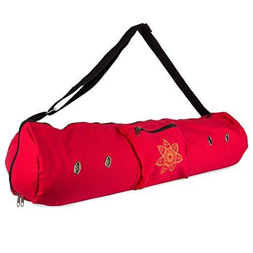 Peace Yoga Air Vent Yoga Mat Bag Red Mandala