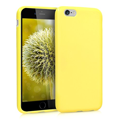 kwmobile TPU Silicone Case Compatible with Apple iPhone 6 / 6S - Soft Flexible Protective Phone Cover - Pastel Yellow Matte