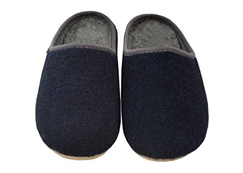 Feltro 49 Scuro 47 Scarpe Grandi Fd16 Da 48 50 Gomma Big Comodo Blu Dimensioni Size Pantofole Uomo Pelle xo7wFtCtqB