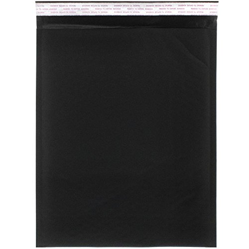 JAM Paper Bubble Lite Padded Mailers - 10'' x 13'' - Black Kraft - 100/pack by JAM Paper