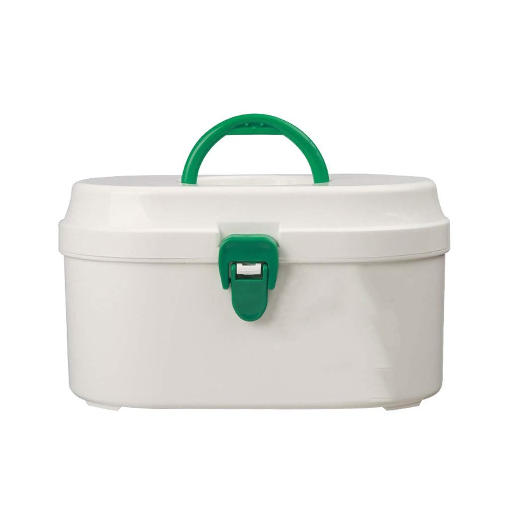 Medicine box Household Medicine Storage Box Plastic White Outpatient First Aid Convenient Carrying HUXIUPING (Size : S)