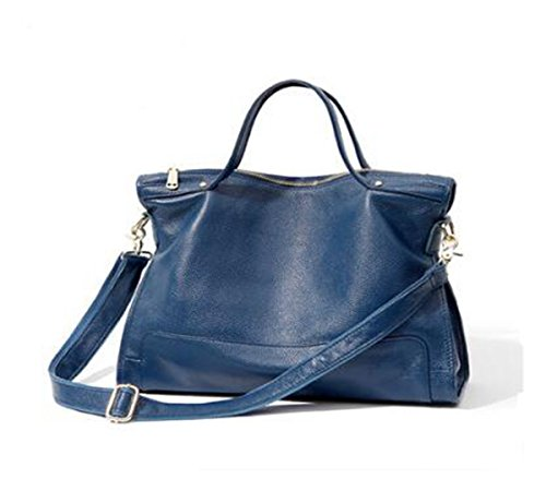 Blue backpack 15 3 Bags Shoulder Crossbody Genuine Ms LXopr inch bag Leather 9 3 11 qB86xwY