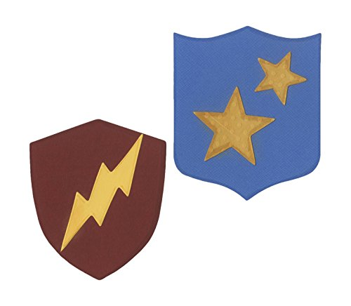 (Ellison Sure Cut Die Shields Lightning and Stars, Large, Multicolor)