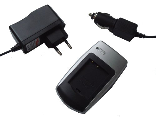 Price comparison product image vhbw Battery Charging Kit + In Car Charger Suitable For Samsung Battery Ia-Bp-85St