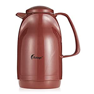 Retage Glass Liner Thermos Flask, Brown - 1 Liter