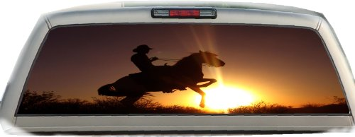 Horse Rear Window - Horse Rearing- 22 Inches-by-65 Inches - Rear Window Graphics
