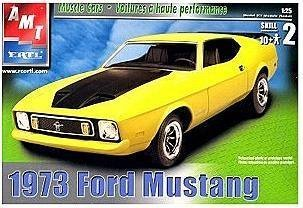 Amazon Com Amt Ertl 1973 Ford Mustang Muscle Cars Model Kit By Amt