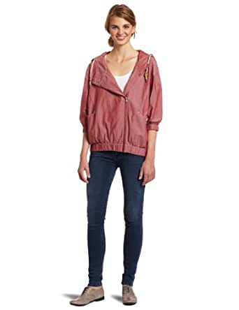 WeSC Juniors Sabreen Hooded Jacket, Chambray Red, Small