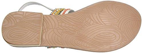 Dockers by Gerli 34fl214-100505, Sandalias con Cuña para Mujer Blanco (Weiss/multi 505)