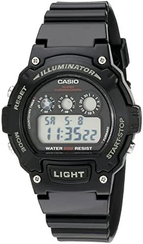 Casio Kids W-214HC-1AVCF Classic Digital Display Quartz Black Watch