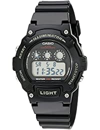 Kids W-214HC-1AVCF Classic Digital Display Quartz Black Watch